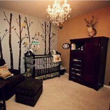 I love this but will some pink and no deer head on the wall-- Hunting Baby Bedding | Rustic Baby Deer Bedding for Forest or Hunting Baby Nursery Themes