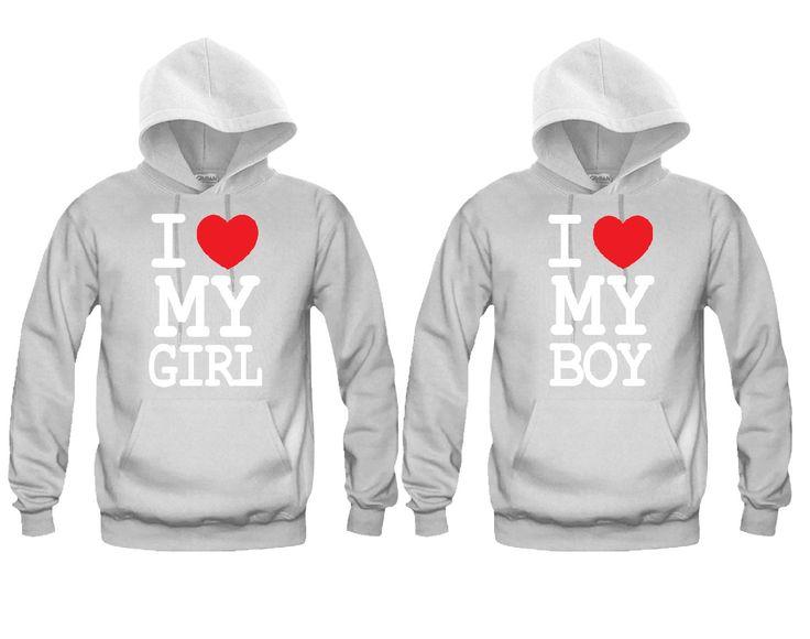 I Love My Girl - I Love My Boy Unisex Couple Matching Hoodies