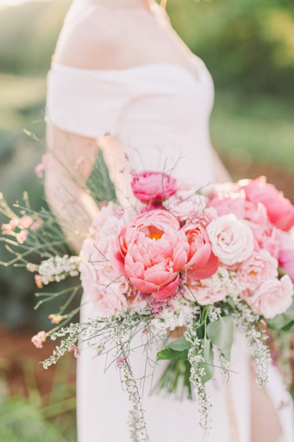 Gorgeous coral charm peony bouquet: http://www.stylemepretty.com/destination-weddings/2016/06/24/an-inspo-complete-with-an-off-the-rack-wedding-gown-you-need-to-own/ | Photography: Nastja Kovacec Photography - http://www.nastjakovacec.com/