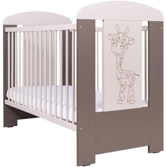 Łóżeczko drewniane ŻYRAFKA dla niemowląt