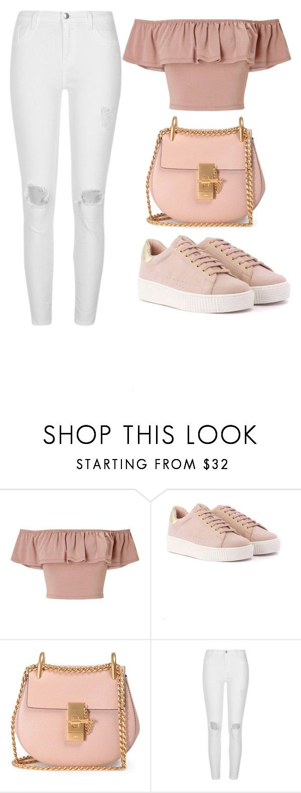 """Girly"" by tovenilsen on Polyvore featuring Miss Selfridge, Chloé and River Island"
