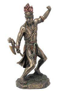 African God of War and Lightning Chango Shango Orisha Statue - A god of many religions, including Santeria, Voodoo, and Yoruba. $49.95