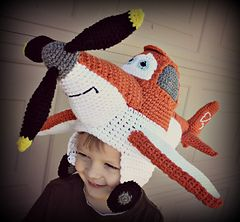Airplane Hat (stuffie) This is Dusty from the movie Planes! Need to make this before we go see this!!