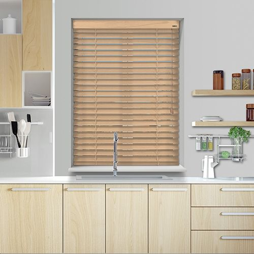 Controliss 12V DC battery Powered Knightsbridge Heritage Natural Wood Blind. #Home #HomeDecor #InteriorDesign #Decor #WoodenBlinds  #CreateYourHome #BudgetBlinds #WindowShades #Window  #Design #Blind #WindowCoverings #Windows #MadeinUK