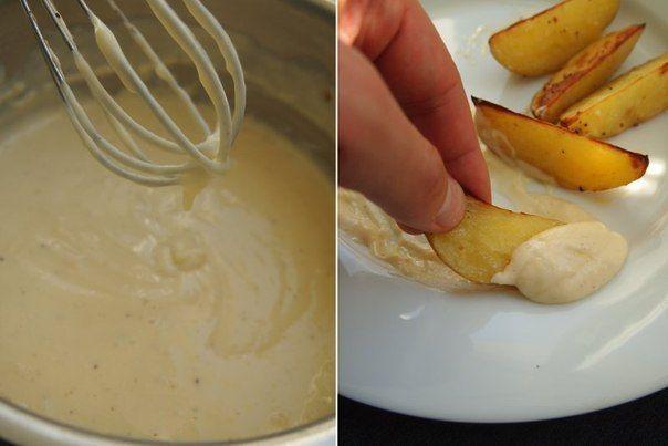 Сырный соус — Рецепты гарниров, салатов, мясных блюд