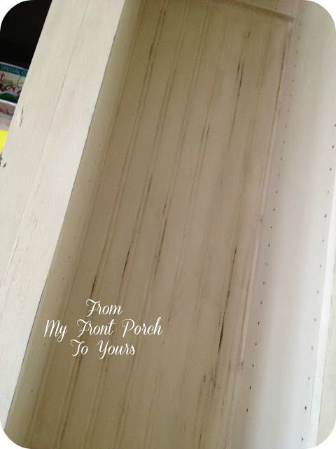 Painted and Distressed Bead Board Wallpaper  - didn't know we could distress wallpaper.  Great to know!