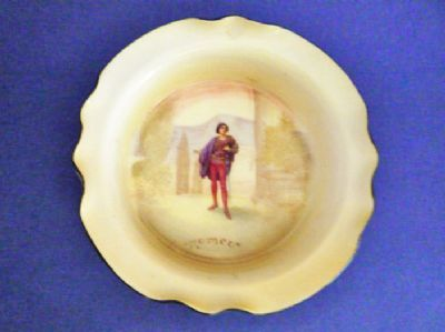 Royal Doulton Shakespearean Characters 'Romeo' Bone China Dish E7267 c1915