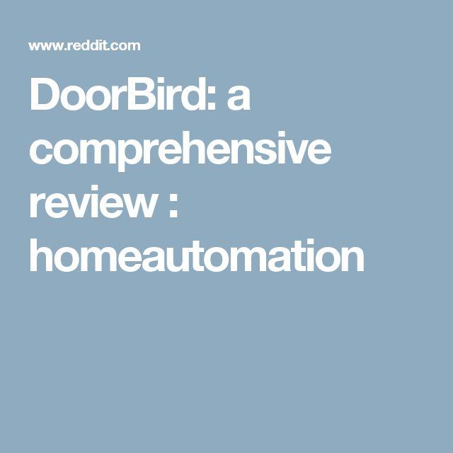 DoorBird: a comprehensive review : homeautomation