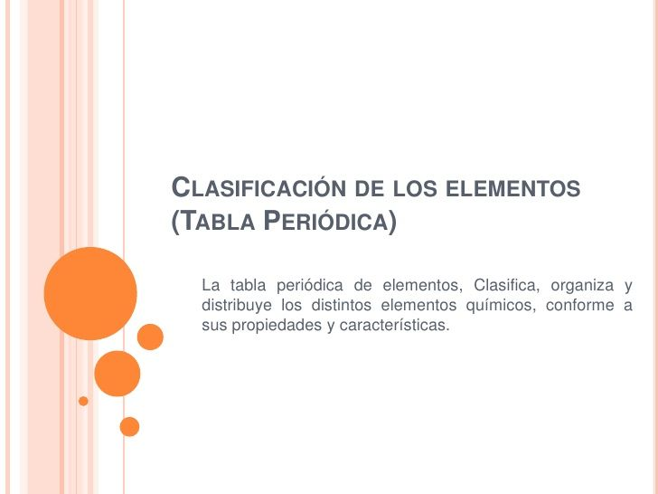 Clasificacin de los elementos tabla peridica by abigal dmort clasificacin de los elementos tabla peridica by abigal dmort via slideshare power point pinterest tabla elementos y vas urtaz Choice Image