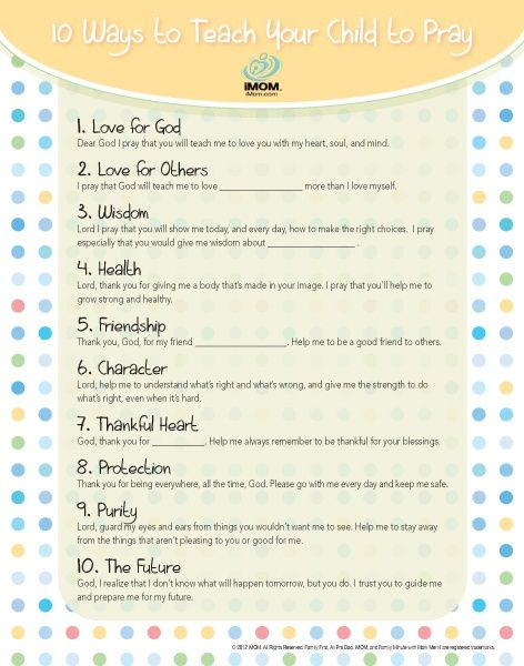 Helping your child develop a daily prayer life is one of the