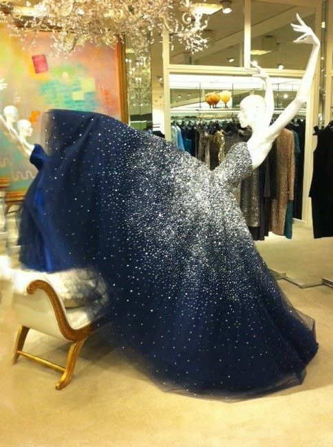Simple-dress Luxurious Strapless Blue Sequined Tulle Ball Gown/Prom Dresses/Quinceanera Dresses/Formal Dresses TUPD-70689