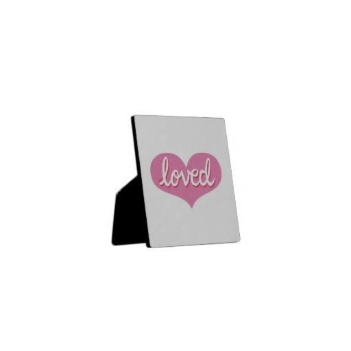 Plaque Pink Heart design Available in a range of designs