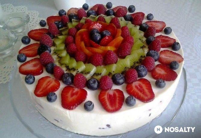 Gyümölcsös joghurttorta Kati konyhájából
