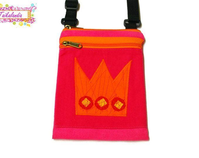 Crossbody Bag For Travel, Mini Messenger, Travel Bag, Sling Shoulder Bag, Cross Body Bag, iPhone Purse, Cell Phone Bag, Colorful Bag, Crown #messengerbag #crossbodybag #shoulderbag #colorfulbag #kidsbag #phonebag #iphonebag #travelbag #minimessenger #hand