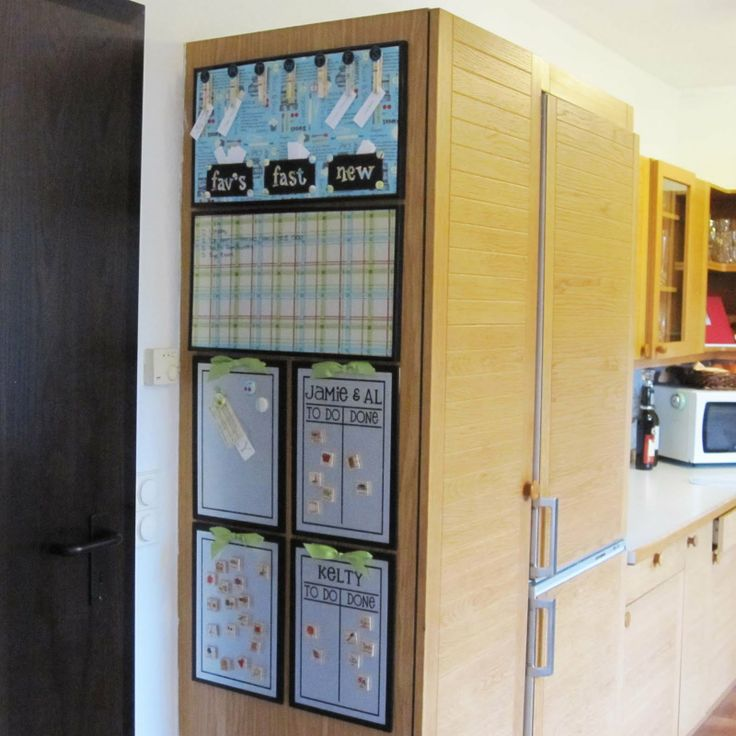 Our Journey: Kitchen Command Center ~ Finally! What An Amazing Idea. Wonder  If I Could Get The Boys To Help Put One Up On The Pantry Door