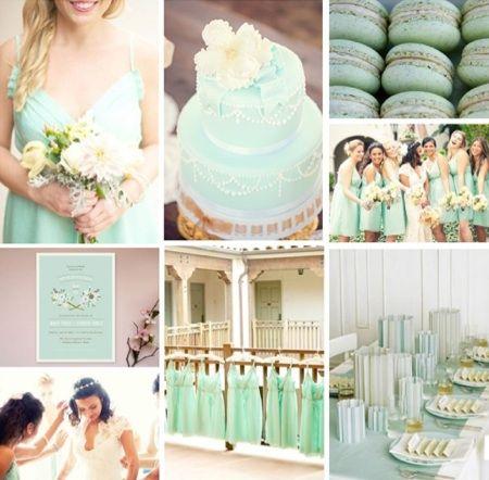 Amazing Predictions Of Spring/Summer 2013 Wedding Colors Pretty Backyard Wedding  Fall Mint Wedding Decor