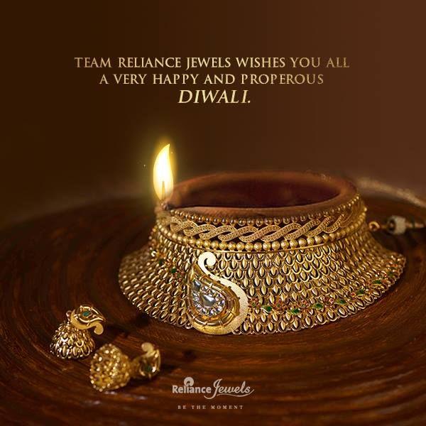 Reliance Jewels wishes you all a very Happy Diwali  www.reliancejewels.com  #Diwali2016 #Festival #Occasion #Celebration #Gold #Diamond #Jewellery