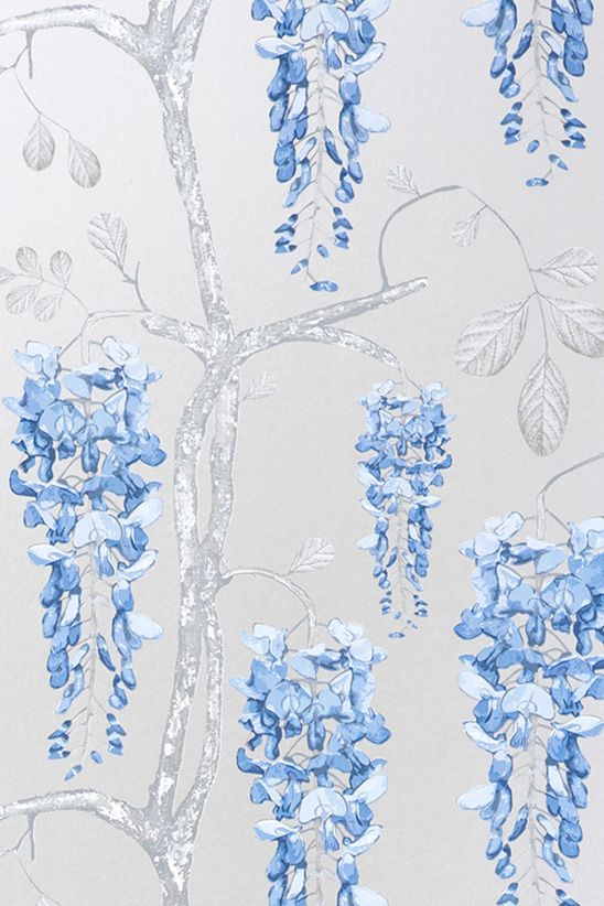 Image of Wallpaper - Wisteria - Silver Blue