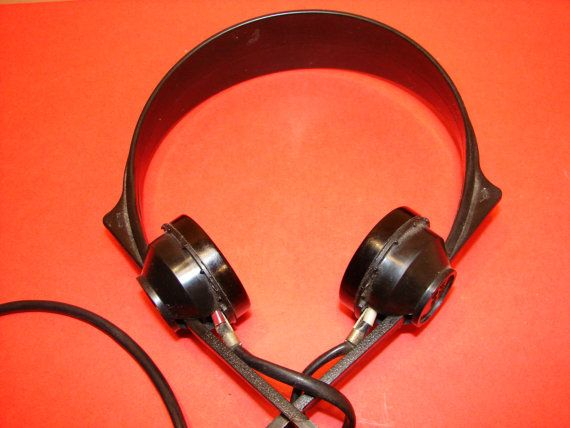 Soviet Vintage High quality Headphones USSR era 1954y Collectible Home Decor on Etsy, $10.89