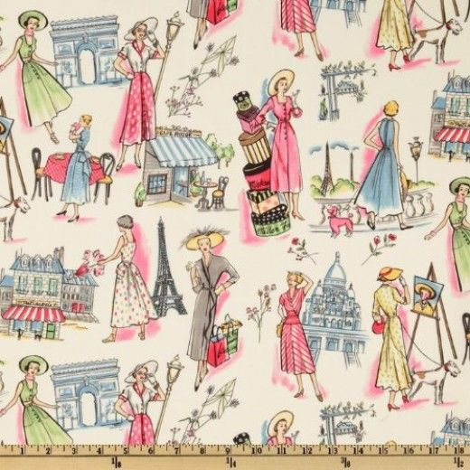 9 Best Paris Theme Fabric Images On Pinterest Paris