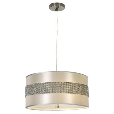 Trend Lighting Harmony Pendant Shown In Metallic Silver Finish