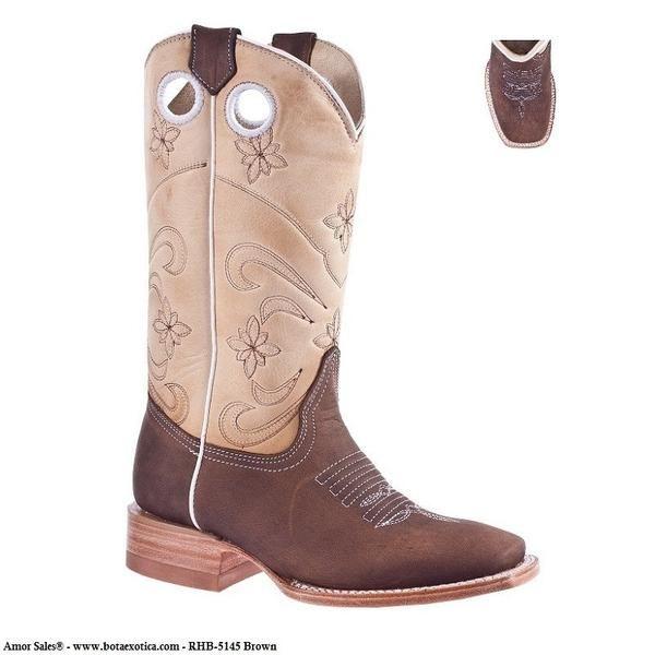 659a0f87a6 RHB-5145 Brown - Botas Vaqueras para Mujer