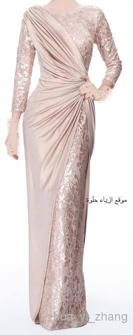 2014 New Arrival Gorgeous Chiffon Lace Long Sleeves Sheath V Neck Neckline Dhyz 01, $114.74 | DHgate.com