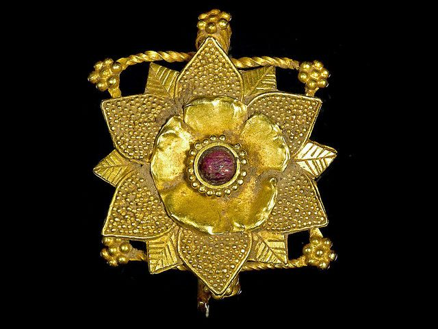 Gold Hair Ornament        From the ancient region of Gandhara, 1st century A.D. It's