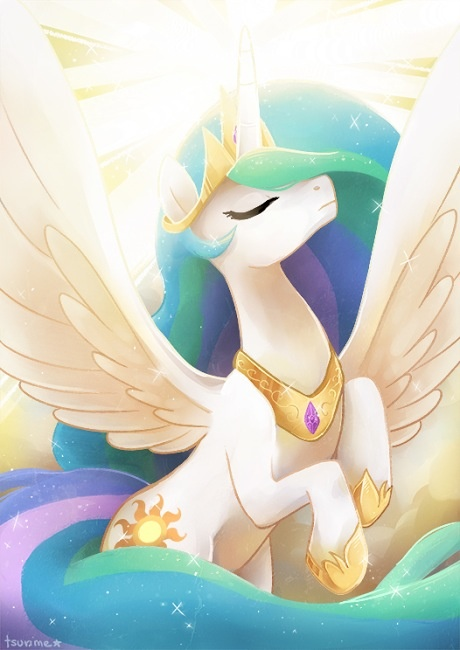 Princess celestia by artist? ||| My Little Pony: Friendship is Magic, alicorn, unicorn, pegasus