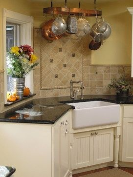 22 Best Kitchens Corner Sinks Images On Pinterest  Kitchens Awesome Corner Sink Kitchen Inspiration