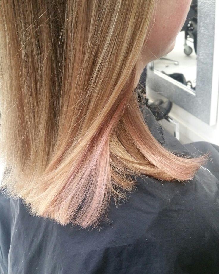 Goldenpink hair