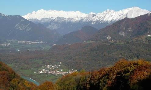 Kamno village in the soca valley