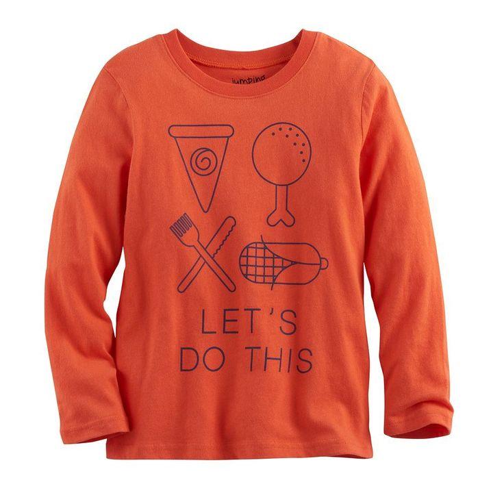 Baby Boy Jumping Beans® Thanksgiving Softest Graphic Tee, Size: 24 Months, Drk Orange