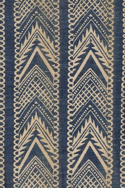 block printed textile - Barron & Larcher