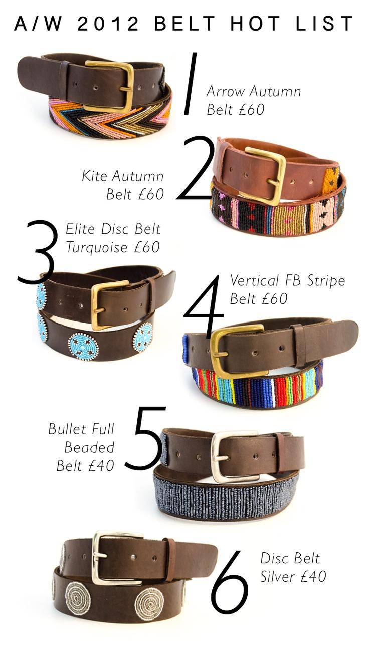 Belts Belts Belts... The AW 2012 Belt Hot List