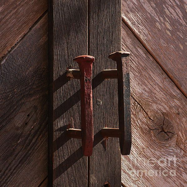 Railroad Spike Handles Photograph by Art Block Collections - #wood, #texture, #railroad spikes