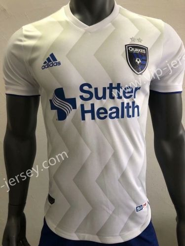 03396aeee09 Player Version 2018-19 San Jose Earthquakes White Thailand Soccer Jersey AAA