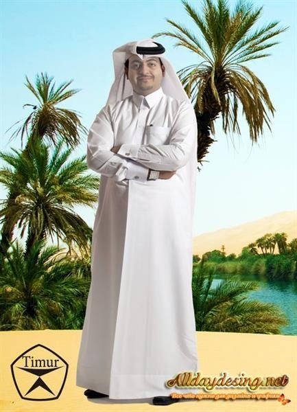 Шаблон для фотошопа арабский костюм