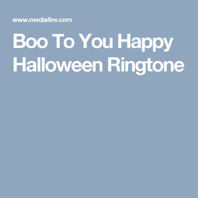 Boo To You Happy Halloween Ringtone