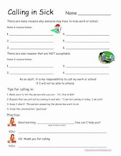 Printables Employability Skills Worksheets 1000 ideas about vocational skills on pinterest life worksheet calling in an absence