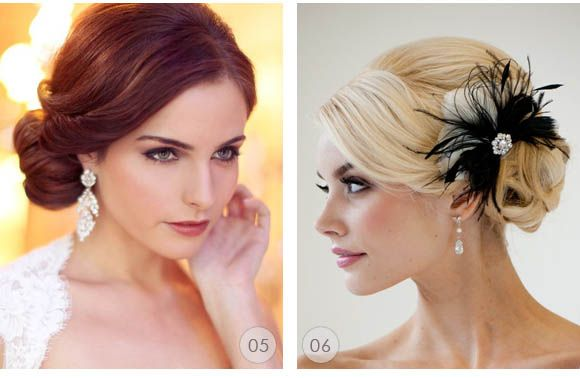 the one on the right for wedding hair?