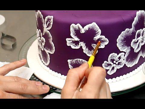 Royal Icing Recipe for Brush Embroidery Cake - Decorando con GLASA REAL by CakesStepbyStep - YouTube