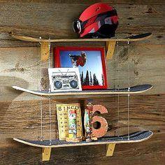 Skateboard Regal selber bauen aus recycelten Skateboards www.fancybeast.de… #a…