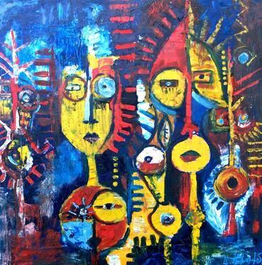 "Saatchi Art Artist dimitris p; Painting, ""Pop Art-faces"" #art"