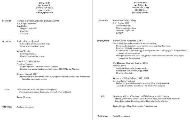 resume examples のおすすめ画像 308 件 pinterest 履歴書
