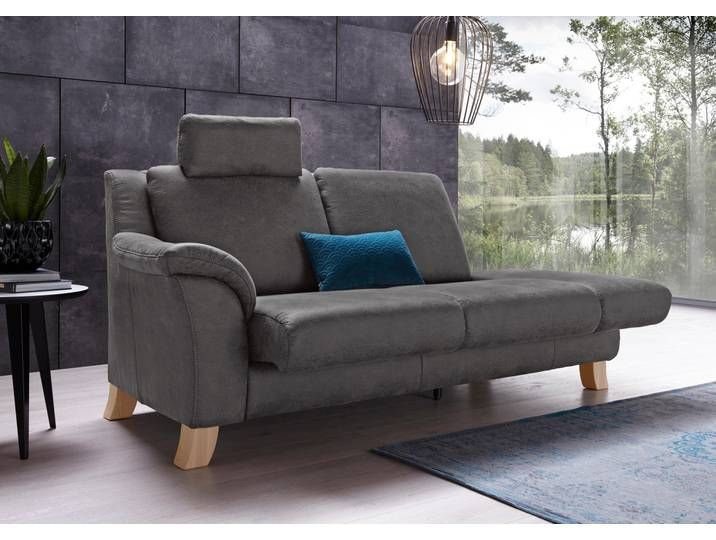 Places Of Style Recamiere Kama Grau Komfortabler Federkern Recamiere Chaiselongue Wohnen
