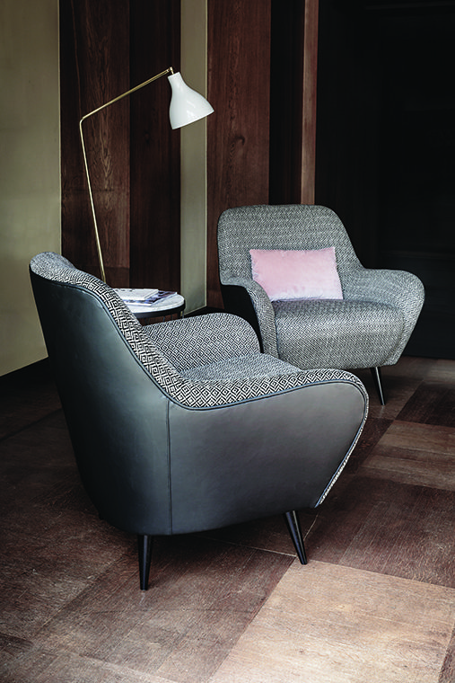 The main feature of the 650 Nido armchair is the particularly embracing and cozy design, its rigorous and basic lines and predominant smooth curves. 650 Nido can elegantly complement both traditional and contemporary furnishings.  design: Gianluigi Landoni