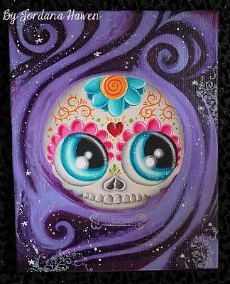 day of the dead painting big eye art sugar skull tattoo
