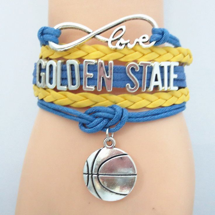 Infinity Love Golden State Basketball - Show off your teams colors! Cutest Love Golden State Bracelet on the Planet! Don't miss our Special Sales Event. Many teams available. www.DilyDalee.co