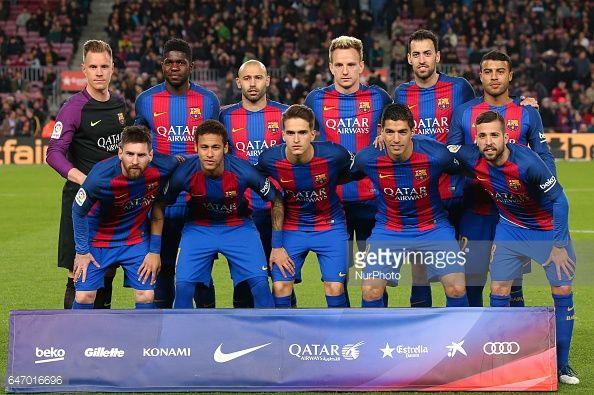 Fotografía de noticias : FC Barcelona team during La Liga match between...